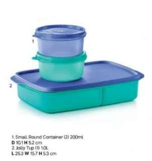 Tupperware Containers 200ml n jolly tup 1L