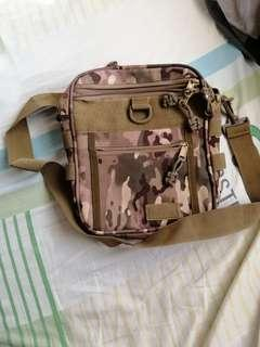 Comouflage Sling Bag with Handgun compartment