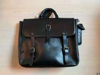 ZARA 真皮手提袋 leather bag briefcase