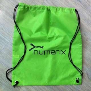Numerix green waterproof string backpack 44x38cm