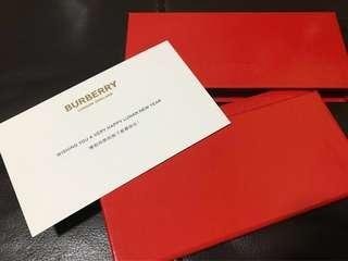Limited Edition Red Packets - Burberry!
