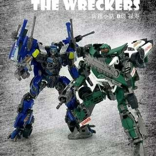 Roadbuster and Topspin Wreckers T3 DOTM TF Dream Factory GOD-10 🆓 post to WM