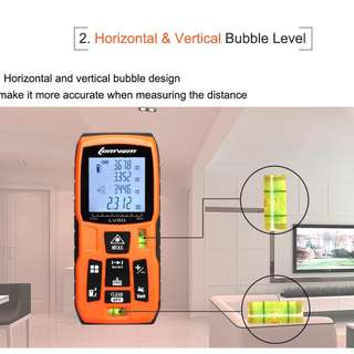 LOMVUM 120m Laser Rangefinder Digital Laser Distance Meter Laser Range Finder Tape Distance Measurer