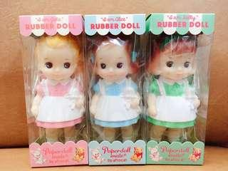 韓國paper doll mate 橡膠娃娃 每款$380