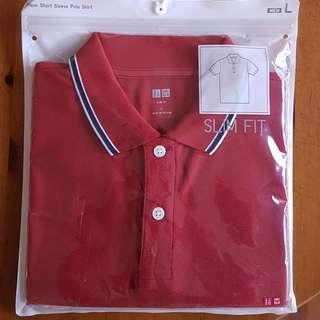 🚚 Uniqlo Brand New Red Polo Shirt
