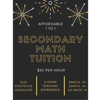 Northeast secondary math tuition