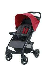 Brand New Graco Verb Click Connect Stroller, Chili Red