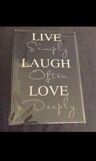 🚚 Sale 🌟 BN Live Simply Laugh Often Love Deeply Tin Sign 20x30cm