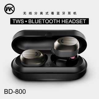 WK BD800 True Wireless Bluetooth Earbuds / Headset