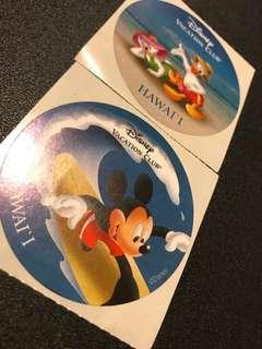 絕版美國夏威夷HAWAII迪士尼貼紙