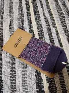 🚚 中統襪 集合編織 紫色長襪 東客集