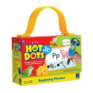 Educational Insights Hot Dots Jr. Cards - Beginning Phonics Each Varies