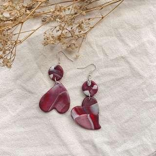 """🚚 """"Will You Be My Lover"""" Handmade Polymer Clay Earring"""