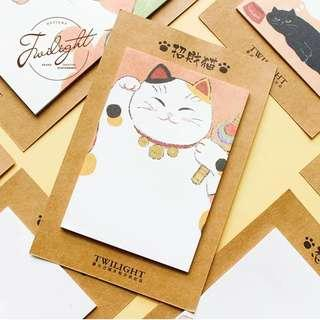 🚚 [In stock] Cute Lucky Cat & Friends Sticky Note