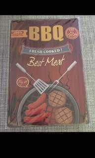 🚚 Sale 🌟 BN BBQ Fresh Cooked Best Meat Tin Sign 20x30cm