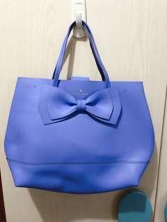 Kate Spade 嬰兒藍 靚紫藍 手提 單肩 蝴蝶結 袋