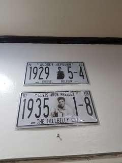 celebrity plate number (elvis presley and audrey hepburn)