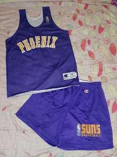 Champion 鳳凰城太陽 雙面練習球衣連褲 NBA Phoenix Suns Reversible Practice Jersey and Shorts