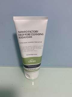 Mango factory deep pore cleansing soda foam Manyo Factory 天然梳打泡沫潔面乳