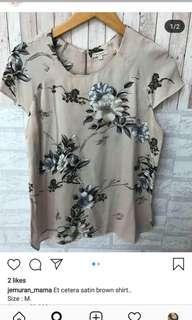 Satin brown shirt