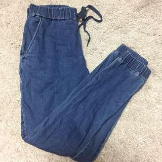 🚚 深藍束口褲(訂)