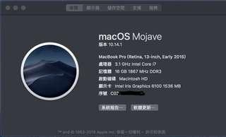macbook pro(Retina,13-inch,Early 2015)客製