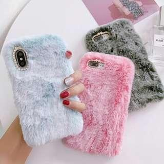 Fluffy fur phone case