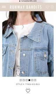 🚚 Jeanna denim oversized jacket