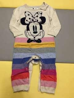 🚚 Baby Gap x Disney 米妮 針織連身衣 12-18m 雙胞胎