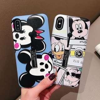 Mickey minnie mouse ring holder phone case