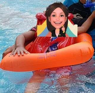 🚚 Inflatable baby float swim ring seat