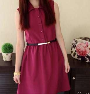 Maroon Dress For Size S