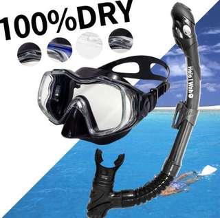浮潛面鏡與呼吸管