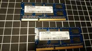 爾必達 elpida 4GB ddr3 1600