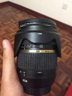 Tamron SP 17-50mm F/2.8 VC (canon mount)