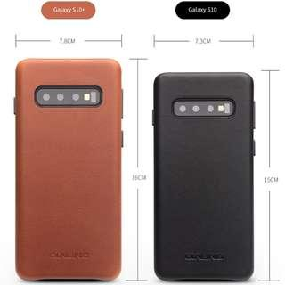 Samsung Galaxy S10/S10+ Genuine Leather Fully Covered Case