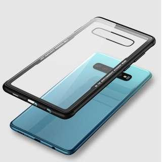Samsung Galaxy S10/S10+ Transparent Glass Fully Covered Case