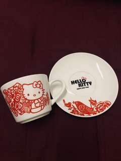 Limited Edition 85c Cafe Hello Kitty Happy New Year Coffee Cup Set