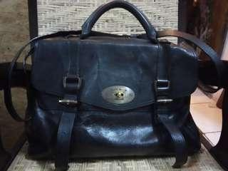 Harry Mason San Fransisco 1978 Genuine Leather Messenger Black Bag