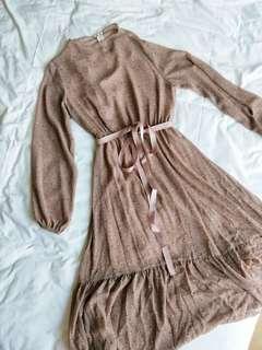 bnwot blush pink vintage dress