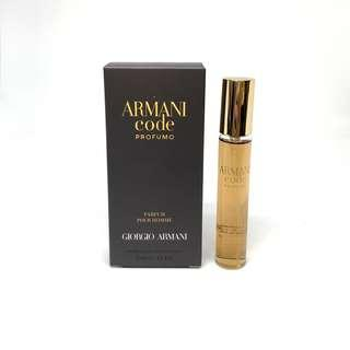 Armani code Profumo eau de toilette fragrance perfume cologne pocket size travel 20ml
