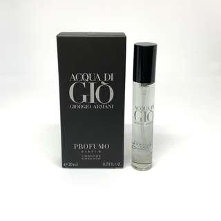 Acqua de Gio Profumo Armani Polo red eau de toilette fragrance perfume cologne pocket size travel 20ml