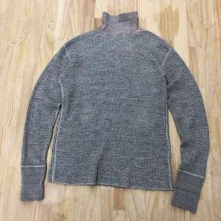 Kaptain sunshine turtle neck waffle sweater
