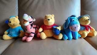 麥當勞 小熊維尼 跳跳虎 驢驢 Winnie the Pooh 公仔一套五隻齊套