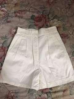 G2000 pure cotton cream walking shorts