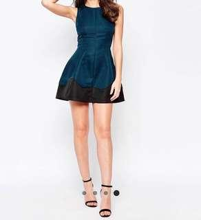 AX Paris Skater Dress with wave detailed hem (Original $83)