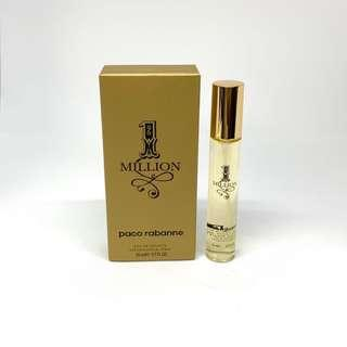 Paco rabanne One million  eau de toilette fragrance perfume cologne pocket size travel 20ml