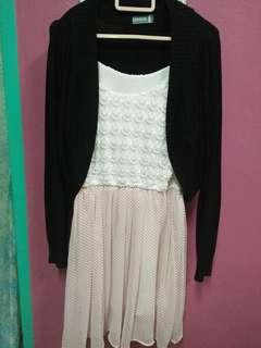 [INC. POSTAGE] COMBO Dress with Cardigan