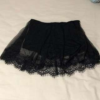 🚚 SALE: forever 21 see through lace skorts