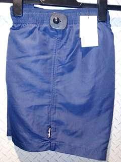 Calvin Klein swimwear NWT size L drawstring Blue shorts